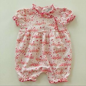 Kissy Kissy Baby Girl Pink Berry Floral Romper
